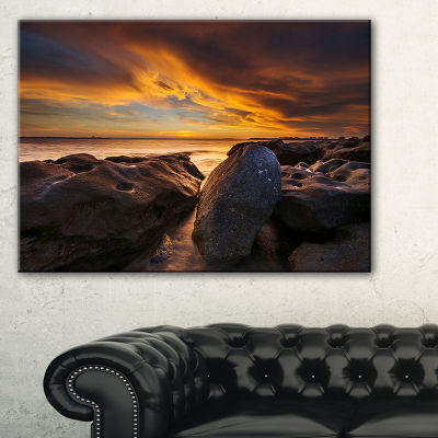 Designart La Perhouse Beach Sydney Canvas Art