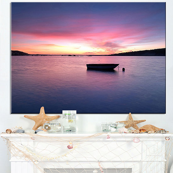 Designart Lagoa De Albufeira Seascape Portugal Canvas Art