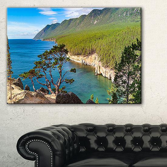 Designart Lake Baikal On Summer Day Canvas Art