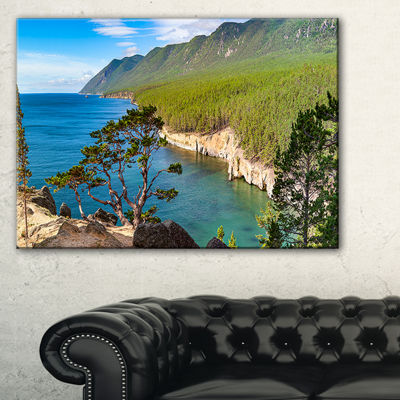 Designart Lake Baikal On Summer Day Canvas Art