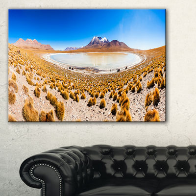 Designart Lake Bolivia Altipalno Panorama Canvas Art