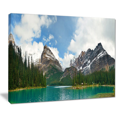 Designart Lake O Hara In Yoho National Park Canvas Art