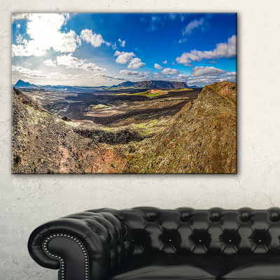 Designart Lava Destroyed Stretch Of Iceland Canvas Art