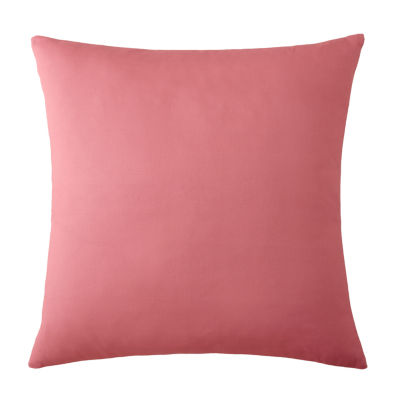 Birds In Bliss Euro Sham Solid Pink