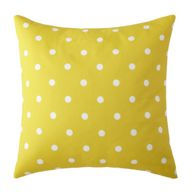 Blue Falls Euro Sham Yellow Polka Dot