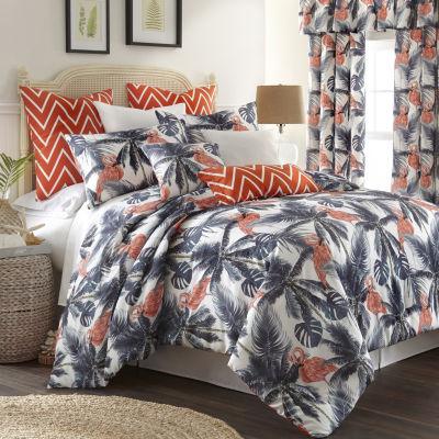 Flamingo Palms Duvet Cover Set