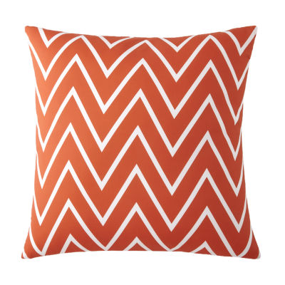 Flamingo Palms Euro Sham Orange Zigzag