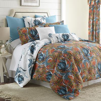 Tropical Bloom Comforter Set Reversible