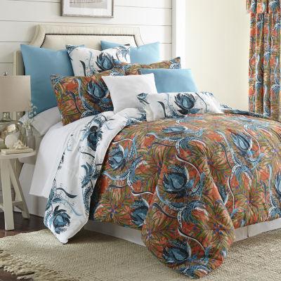 Tropical Bloom Duvet Cover Set Reversible