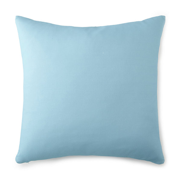 Tropical Bloom Euro Sham Aqua Blue