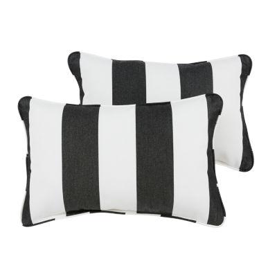 2-pc. Cabana Sunbrella Corded Indoor/Outdoor Lumbar Pillows