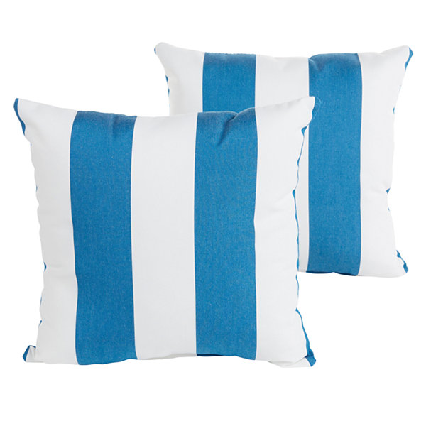 Jcpenney Outdoor Throw Pillows : 2-pc. Cabana Sunbrella Knife Edge Indoor/Outdoor Accent Pillows - JCPenney