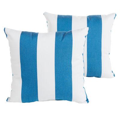 2-pc. Cabana Sunbrella Knife Edge Indoor/Outdoor Accent Pillows