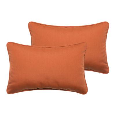 2-pc. Dylan Sunbrella Corded Indoor/Outdoor Lumbar Pillows