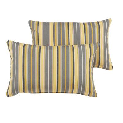 2-pc. Gable Sunbrella Knife Edge Indoor/Outdoor Lumbar Pillows