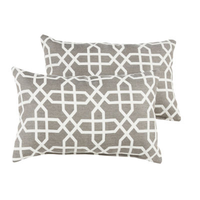 2-pc. Sterling Sunbrella Knife Edge Indoor/Outdoor Lumbar Pillows