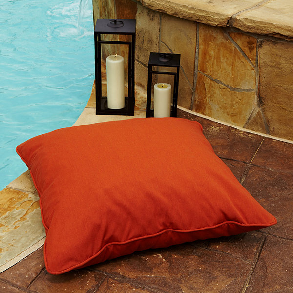 Dylan Sunbrella Corded Indoor/Outdoor Floor Pillow