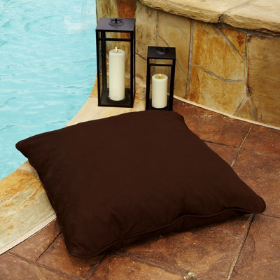 Quinn Sunbrella Corded Indoor/Outdoor Floor Pillow