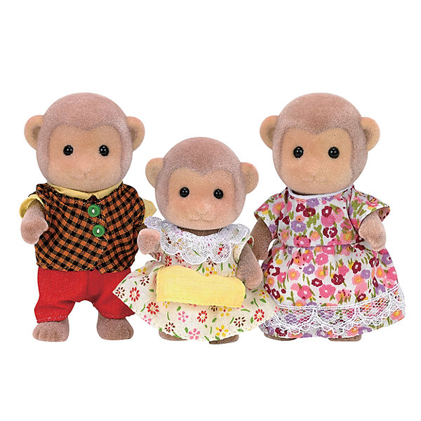 Calico Critters Mango Monkey Family