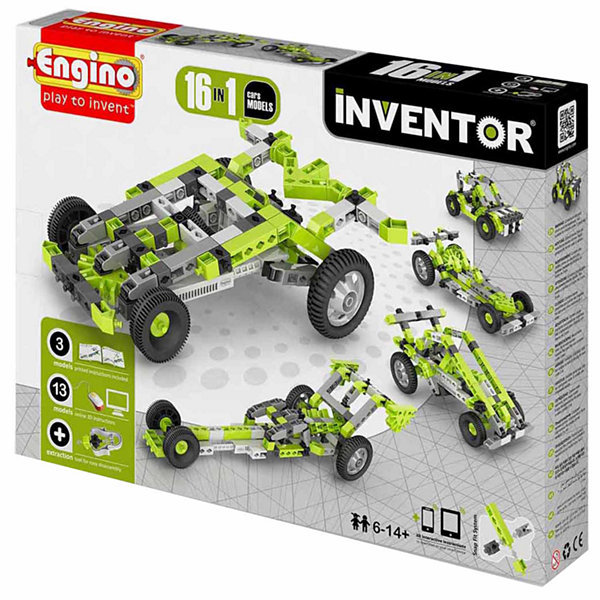 Engino 16 In 1 Models/Cars Building Set