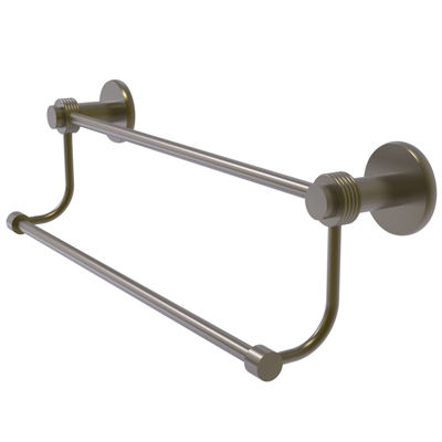 Mercury Collection Double Towel Bar with Groovy Accents