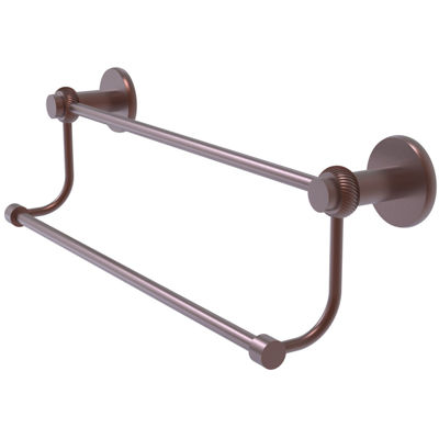 Mercury Collection Double Towel Bar with Twist Accents