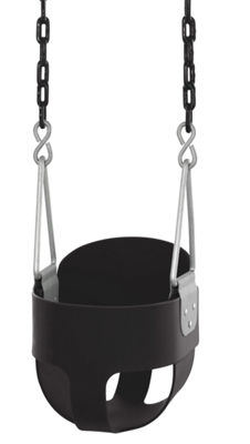 Swingan - High Back, Full Bucket Toddler & Baby Swing - Vinyl Coated Chain - Fully Assembled