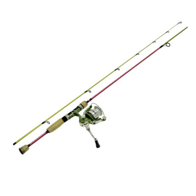 "Eagle Claw Fish Skins Spinning Rod - 6'6"" Length 2 Piece Rod Medium Power 5.2:1 Gear Ratio 3Bb+1Rb Bearings"