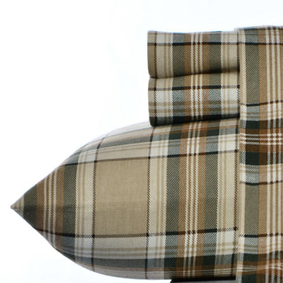 Eddie Bauer Edgewood Plaid Pine 3PC Twin XL Sheet Set