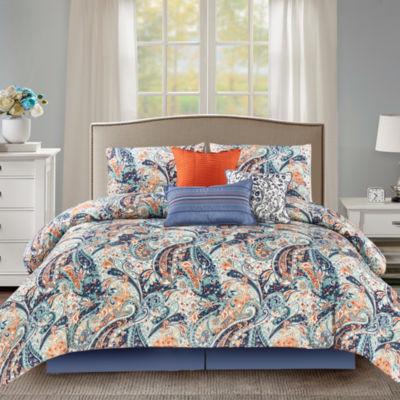 Wonder Home Calisto 7PC Microfiber Printed Comforter Set