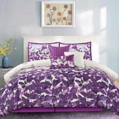 Wonder Home Sasha 7PC Floral Printed Comforter Set
