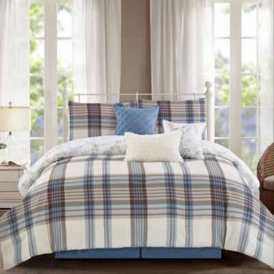 Wonder Home Clemente 7PC Yarn Dye Print Comforter Set