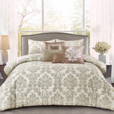Wonder Home Magnus 7PC Woven Texture Print Comforter Set