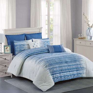 Wonder Home Dorian Cotton Printed 7pcs Comforter Set