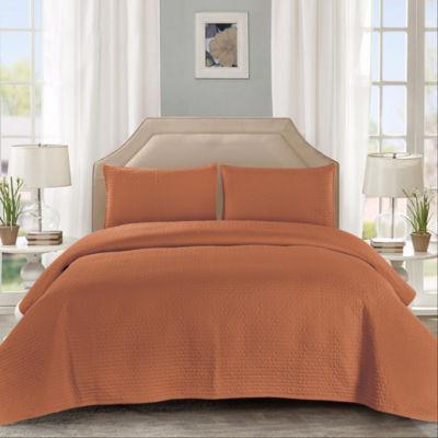 Wonder Home Bologna 3pcs Cotton Solid Quilt Set