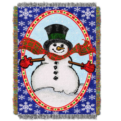 Northwest Bright Happy Snowman Throw