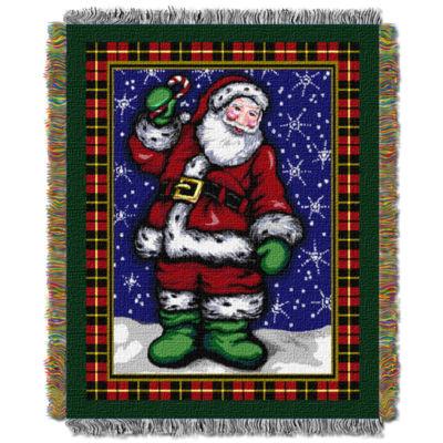 Northwest Plaid Santa Throw
