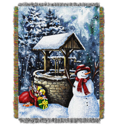 Northwest Snowman Wishing Well Throw