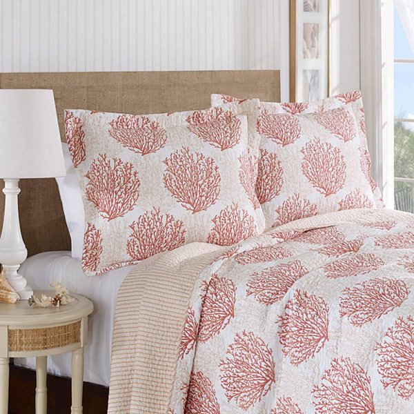 laura ashley coral coast quilt set jcpenney. Black Bedroom Furniture Sets. Home Design Ideas