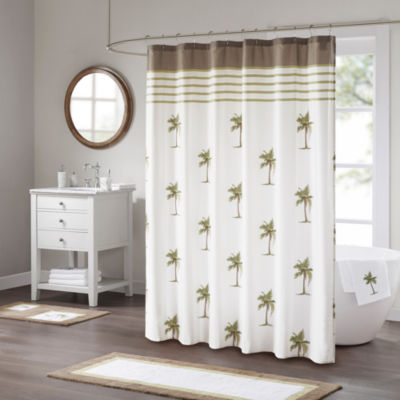 Madison Park Areca Cotton Sateen Shower Curtain