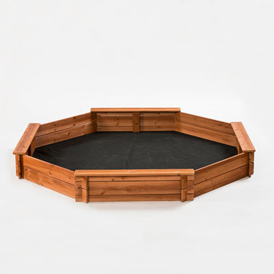 Creative Cedar Designs Octagon Wooden Sandbox w/ Lining & Cover (Large)