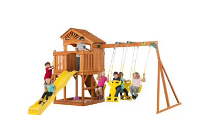 Creative Cedar Designs Timber Valley Wooden Playset w/ Architectural Roof