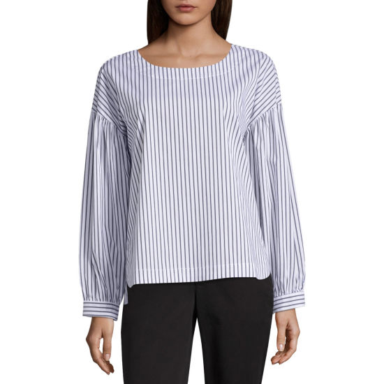 Worthington Modern Fit Long Sleeve Button-Front Shirt