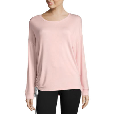 Xersion Studio Side Ruched Lightweight Sweatshirt