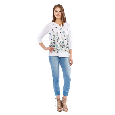 Skyes The Limit St. Lucia Embroidered Top- Plus