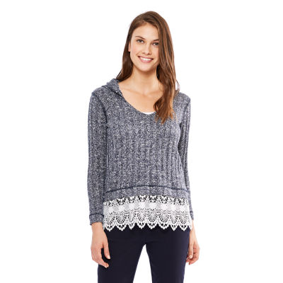 Skyes The Limit St. Lucia Lace Hem Hoodie- Plus