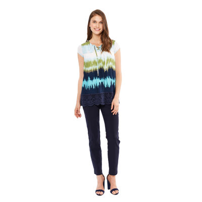 Skyes The Limit St. Lucia Lace Up Tie Dye Top- Plus