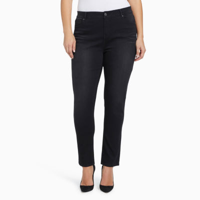 Gloria Vanderbilt Womens Mid Rise Relaxed Fit Jean - Plus