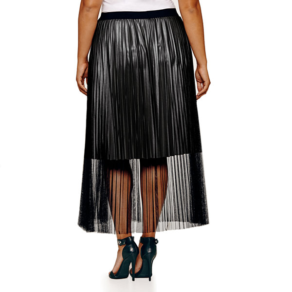 Project Runway Season Finale Winner Tulle Pleated Maxi Skirt Plus