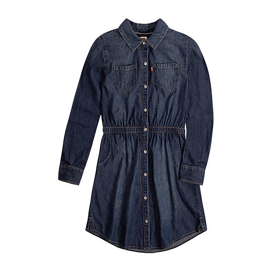 Levi's Girls Long Sleeve Swing Dresses - Preschool